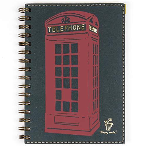 Listín telefónico A5, 15x21 cm, agenda para 1000 números de teléfono, con anillas, papel reciclado de calidad
