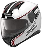 Nolan N87Rapid Integral Casco Moto policarbonato N- Com–Metal Blanco...