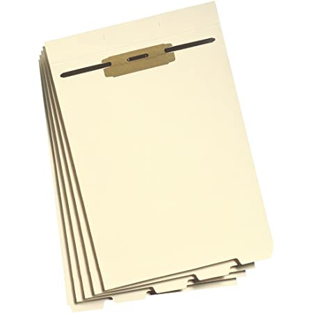 Smead Stackable Folder Divider with Fastener, Bottom 1/5-Cut Tab, Letter Size, Manila, 50 per Box (35600)