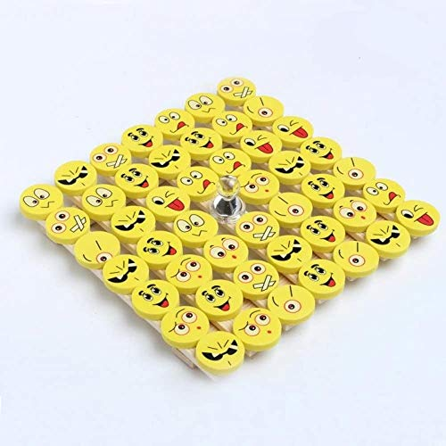 Syoo, set di 48gomme da cancellare a forma di emoji e smiley, ricordo, idea regalo per compleanno, bambini, feste, Natale, ringraziamenti, festa in giardino