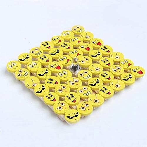 CHSYOO 48 x Emoji Borrador Set, regalo para infantiles party niños cumpleaños fiesta fiesta jardín Navidad Año nuevo...