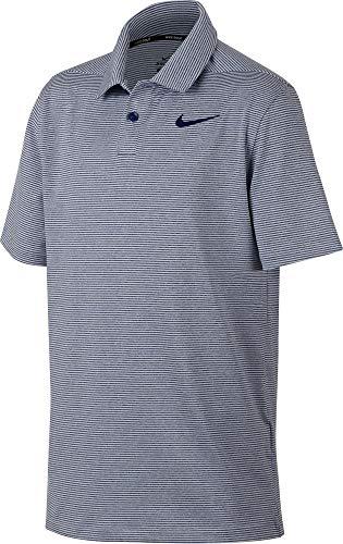 Nike Dri-Fit - Polo a Righe per Bambini, Bambino, AJ5740-492, Blue Void/Pure/Blue Void, L