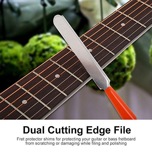 Gitarrendatei, 2 Stck Fret Protectors + 1 Stück Guitar File + 1 Stück Fret-Nivellierwerkzeug Frets Repair Tool für Gitarrenbauer oder Gitarre DIY