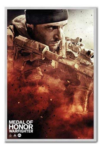 Medal Of Honour Poster Warfighter, Cover Magnettafel silber Rahmen, 96,5 x 66 cm (ca. 96,5 x 66 cm)