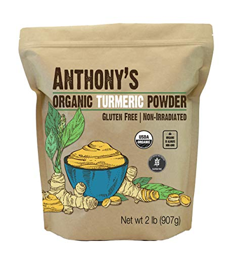 Anthony's Organic Turmeric Root Powder, 2 Lb, Curcumin Powder, Gluten Free & Non GMO
