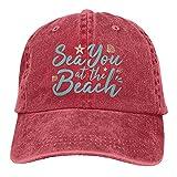 Leumius Sea You at The Beach 2 - Gorra de béisbol unisex de...
