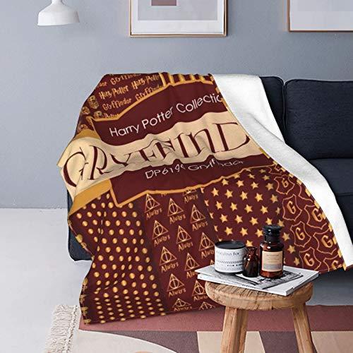 Harry Potter Gryffindor Decke, ultraweich, Micro-Fleecedecke, 150 x 200 cm