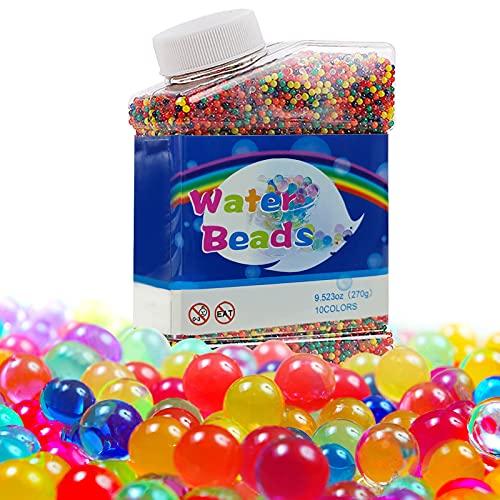 DN DENNOV Perlas de agua para niños, 50.000 perlas de agua no tóxicas Orbeez, bolas de agua, perlas de gel, bolas de gel, bolas de juguete, perlas de flores para macetas y jarrones, decoración
