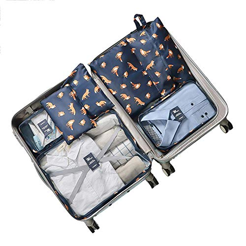 7 sets Packing Organizers durable Luggage Organisers Travel Storage Bag for Suitcases