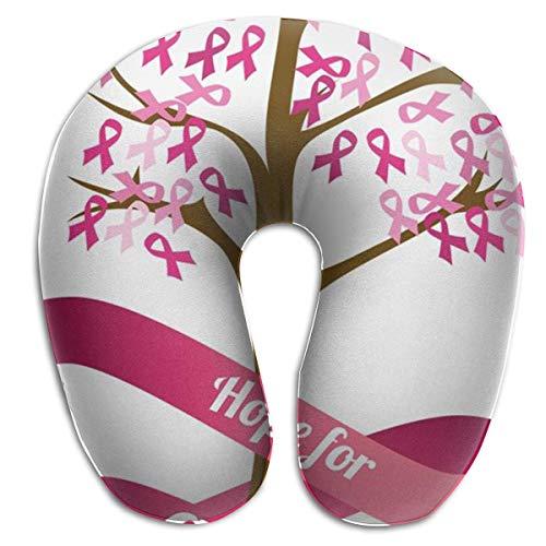 Brustkrebs-Bewusstseins-Nackenkissen, das ursprüngliche U-förmige Reise-Kissen, für Komfort und Bequemlichkeit in der Reise - Mitternacht