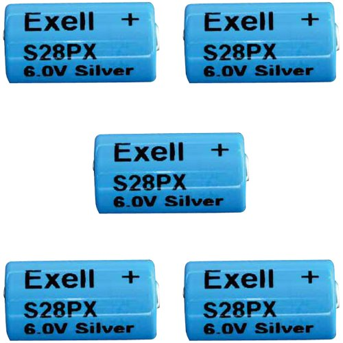 5pc Exell S28PX 6V Silver Oxide Battery 4SR44, V28PX, PX28, 544,