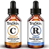 TruSkin Day-Night Anti Aging Duo, Retinol Serum & Vitamin C Serum for Face with Hyaluronic Acid, Skin Care Set Designed to Protect, Firm, Brighten, Clarify, Hydrate, Boost Collagen & Fade Pigmentation