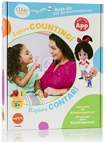CLEO & cuquin Family Fun! Counting Math Kit and App: Spanish/English Education, Ages 3-5, Kindergarten Readiness