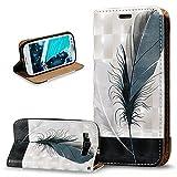 ikasus® carcasa resistente para Samsung Galaxy S3 i9300/Galaxy S3 Neo Gt - i9301i i9301, funda de poliuretano y piel con estampado en relieve y tapa, carcasa de silicona de poliuretano termopl&aac