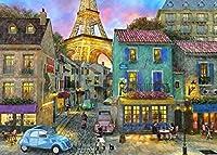 ストリートブルーカーDIYペイント(大人用)初心者向けオイルキャンバスアートアクリルリビング用ホームウォールデコレーション40x50cm(フレームレス)