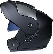 Motorcycle Helmet Breathable Motorbike Helmets Men Women Motocross Helmets Double Visors Racing Riding and Safety Protective Helmet Motorcross Helmet (Color : 03Black, Size : XL)