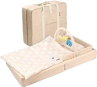 Travel Cot with Mattress, Portable Folding Crib, 120 X 70 cm, (Size : S)