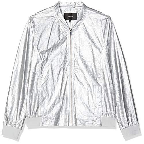 OPUS Damen Harvey Paper Jacke, Grau (Iron Grey Melange 8057), 44