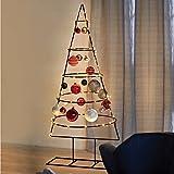 Multistore 2002 Weihnachtsdekoration Aufsteller Weihnachtsbaum Dekobaum, 5 Ebenen, Metall, 125xØ58cm, Tannenbaum Christbaum Tanne