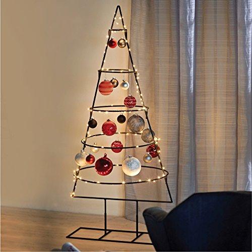 Multistore 2002 Weihnachtsdekoration Aufsteller Weihnachtsbaum Dekobaum, 5 Ebenen, Metall,...