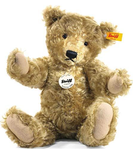Steiff Classic 1920 Teddybär - 35 cm - Teddybär mit Stimme – für Sammler- weich & nicht waschbar - hellbraun (000737)