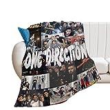 Harry Styles Manta de Tiro súper Suave y cálida Ultra-One Direction Four Soft Micro Fleece Manta Sofá Manta de Tiro de Regazo (Harry Styles -1, 100X130CM)