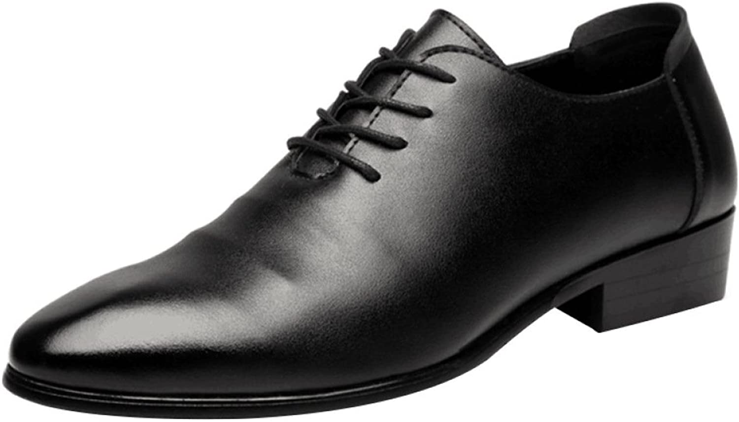 NIUWJ Men Business Casual Fashion Gentleman Breathable Youth Lace Leather shoes