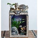 Fuentes decorativas Afortunado chino del dragón de la tortuga de la fuente y de circulación automática del agua del acuario del Ministerio del Interior del paisaje antiguo creativo decoración Amigos r