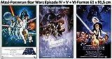 3er-Set Star Wars Set Classic Episode IV + V + VI Poster