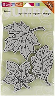 STAMPENDOUS, Jumbo Cling Rubber Stamp, Leaves