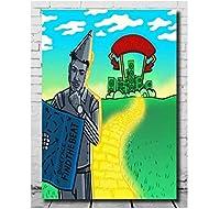 ブルーフェイスビートラップを見つけるヒップホップミュージックウォールアートキャンバス絵画ポスターリビングルーム家の装飾壁の装飾-50x70cmフレームなし