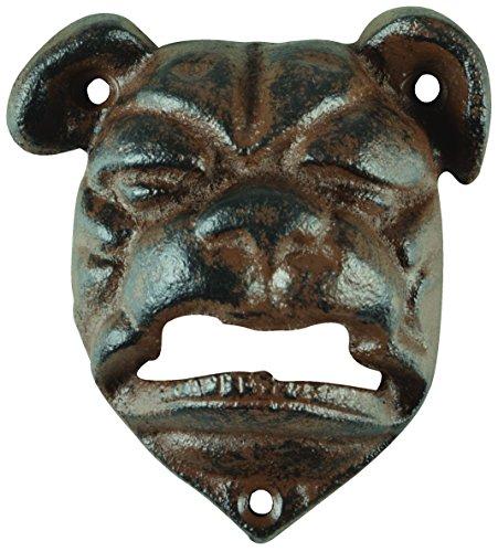 Esschert Design tt204 Bulldog Décapsuleur Marron vieilli
