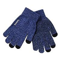 ノーブランド メンズ 手袋 ニット 運転 スマホ対応 滑り止め付き バイク アウトドア 防寒 保温 おしゃれ ニットグローブ 裏起毛 暖かい 無地