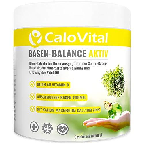 BasenCitrate zur Entgiftung & Detox-Kur | Basenpulver für Säure-Basen Haushalt | Basen Mineral & Basen Plus für Basenkur & Basenfasten | Basisches Pulver Basen-Balance Aktiv von CaloVital (1x Dose)