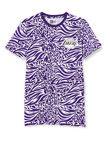 New Era NBA AOP SS tee Loslak Trp Camiseta de Manga Corta, Hombre, Purple, XS