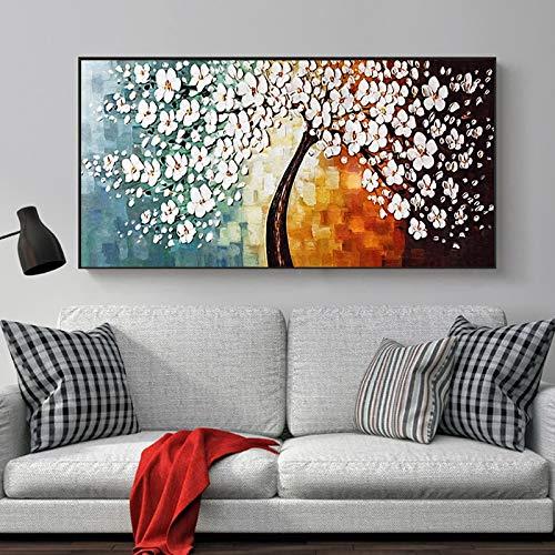 ganlanshu Ciliegio Dipinto su Tela Poster Foto Parete Soggiorno Decorazione della casa Pittura Senza Cornice 30cmx45cm