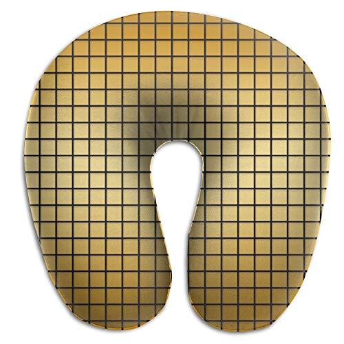 DuanYuanZhi patrón oro textura fondo U forma cuello almohada ergonómico portátil viaje avión tren almohada relleno cabeza cojín cervical cuello almohada