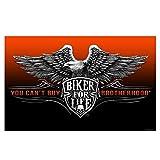 Daywalker Bikestuff Biker Biker Fahne You can´t Buy Brotherhood Biker for Life 150 x 90