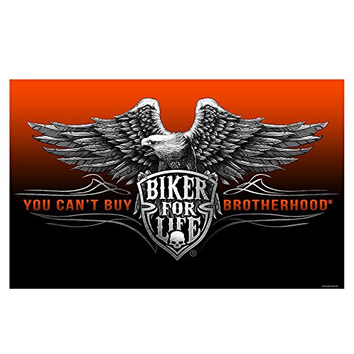 Daywalker Bikestuff Biker Biker Fahne You can´t Buy Brotherhood Biker for Life 150 x 90