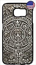 Deal Market LLC Armour Slim Case -Aztec Calendar Mayan Pattern Hard Plastic Black Case Cover for Samsung Galaxy Note 9 Ships Next Day from USA
