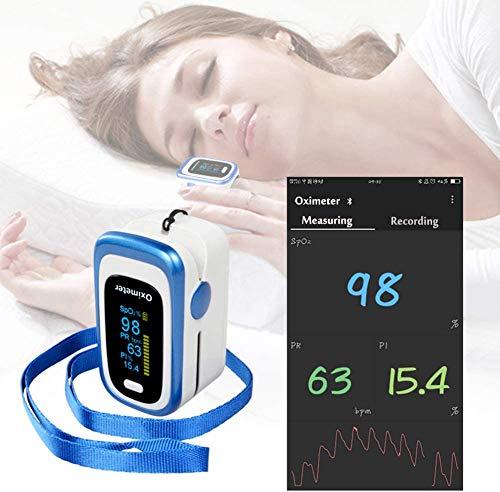 MKKSLR-Oximeter, Bluetooth-Pulsoximeter Tragbares Finger-Pulsoximeter Blutsauerstoffsättigungsmonitor mit OLED-Display-Herzfrequenzoximeter für das Gesundheitswesen