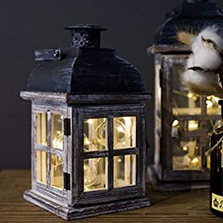 ANH19 Unity Candle Holder- Wooden Retro Candlestick Decor Glass Lantern Tealight Candle Holders Table Centerpiece Bougeoir Et Photophore Glass Lantern BZT6