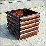 Planter box Square wooden Solid