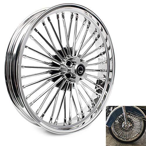 TARAZON 21x3.5 Fat Spoke Tubeless Front Wheel for Harley Softail Heritage Springer Night Train Fatboy Lo Breakout Brekline SINGLE DISC