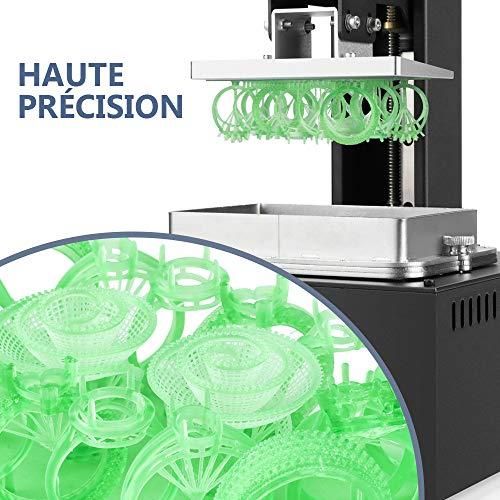 LONGER Orange 30 3D Drucker, Harz 3D Drucker mit Touchscreen, 2K-LCD-Bildschirm, Matrix-UV-LED, größeres Druckformat 12 cm (L) x 6,8 cm (B) x 17 cm (H) mit 250 g Harz - 2
