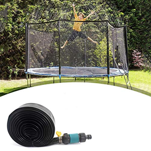 MBZL Trampoline Sprinklers Trampoline Spray Water Park Fun Summer Outdoor Water Game Trampoline Accessories (Color : Blue, Size : 15M)