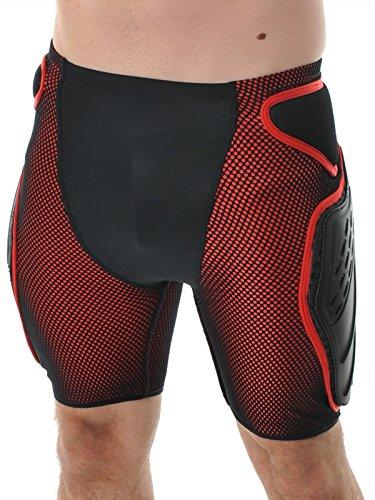 Alpinestars Unisex-Erwachsene 650707-L Freeride Shorts rot Lg, schwarz/red, Large