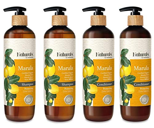 NATURAL by WATSONS Marula Shampoo and Conditioner Set 2 - Free From Paraben, Mineral Oil and Silicones.