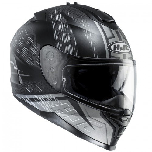 Casque moto HJC IS-17 ENVER MC5SF, Noir/Blanc, XS