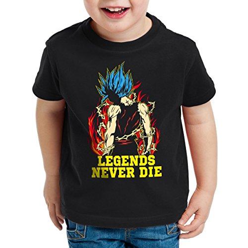Legends Never Die - Goku Blue God Mode T-Shirt pour enfants, Talla:152